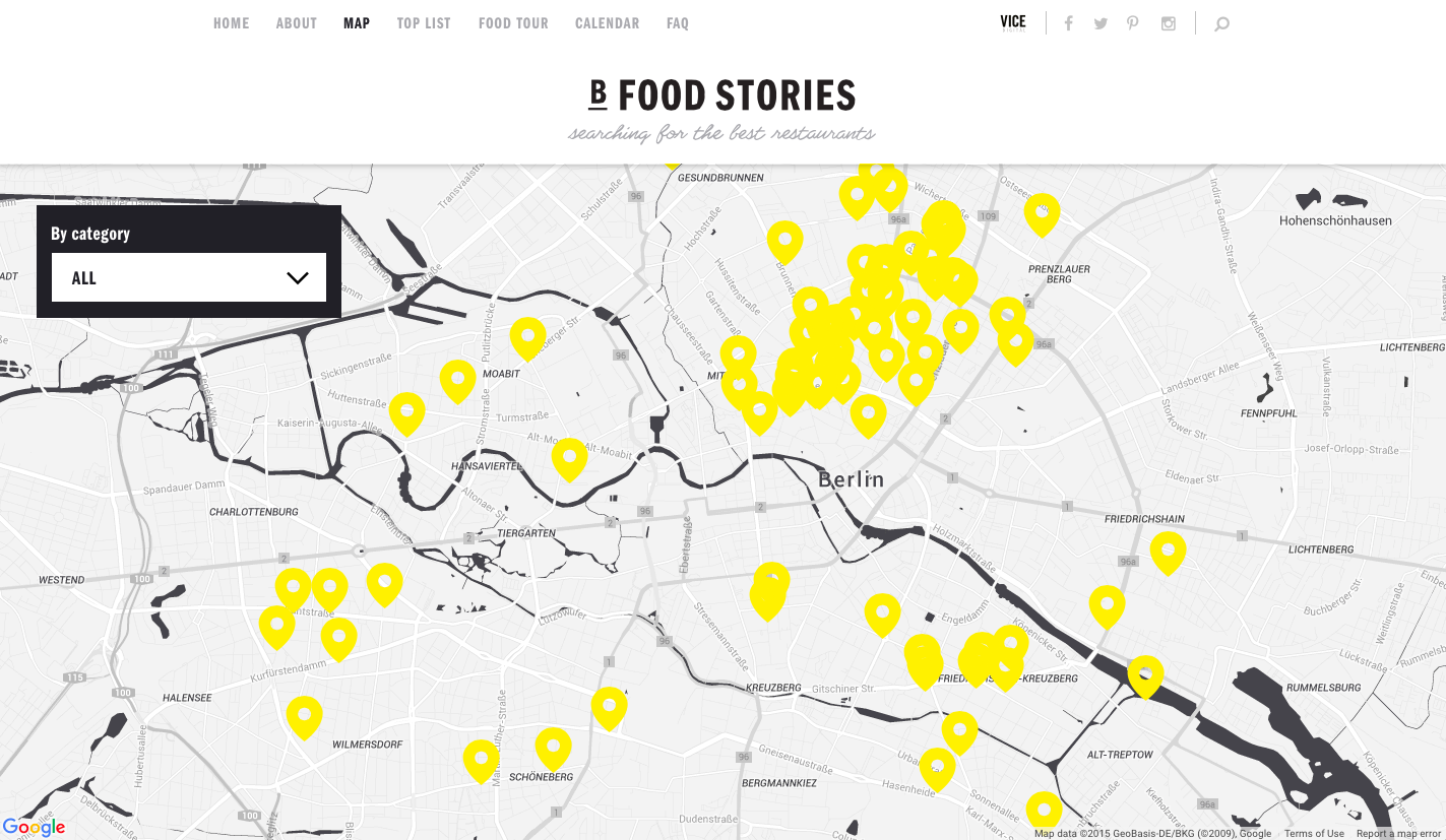 Berlin Food Stories - Map