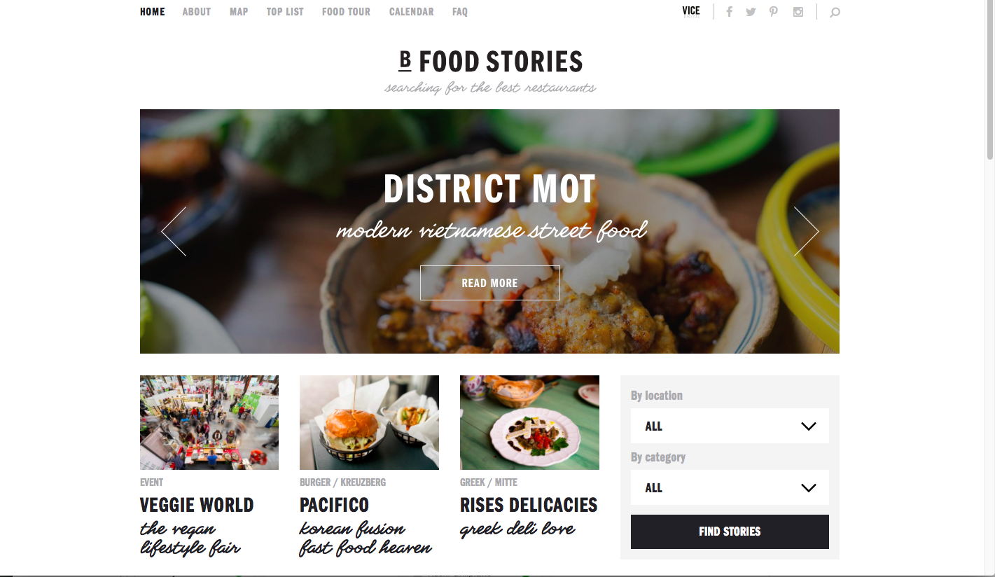 Berllin Food Stories - Home Page